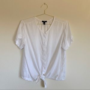 Gap - Tie-Front Button-Up Blouse